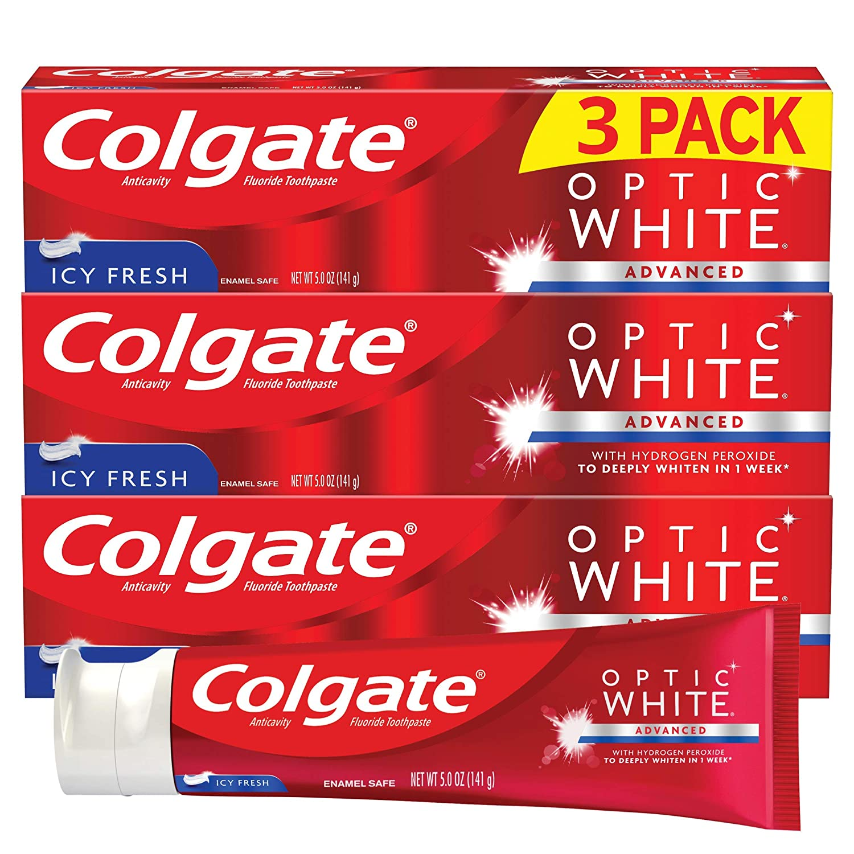 Amazon Com Colgate Optic White Whitening Toothpaste Icy Fresh