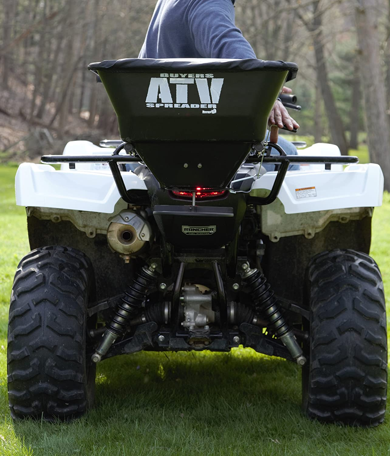 Buyers Products Atvs100 100 Pound 12 Volt Electric Atv Broadcast Salt Spreader Wiring Diagram With Rain Cover Patio Lawn Garden