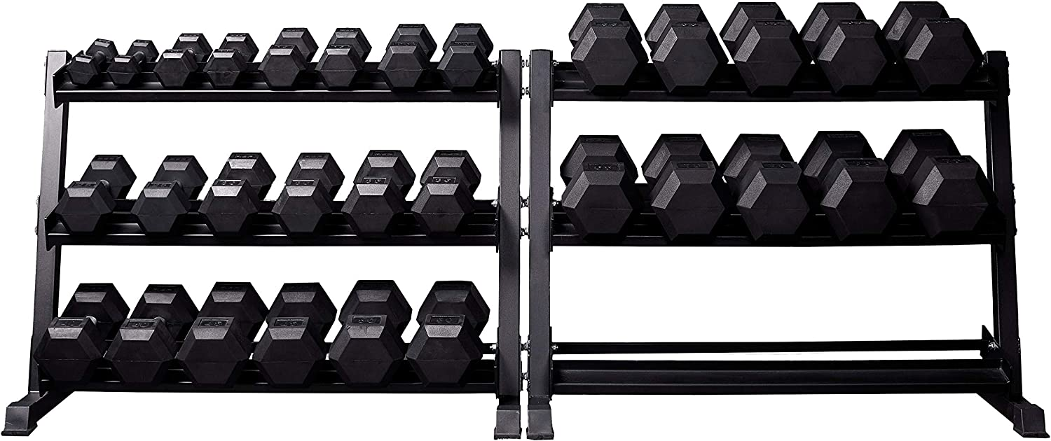 rubber coated hex dumbbells