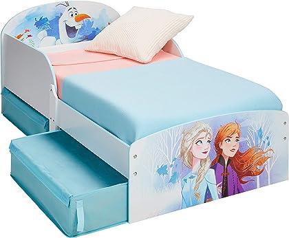 Cama Infantil para Niñas de Frozen, princesas Ana y Elsa de Disney