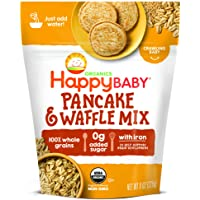 Happy Baby Organics Pancake & Waffle Mix, 8 Ounce Pouch (Pack of 1)