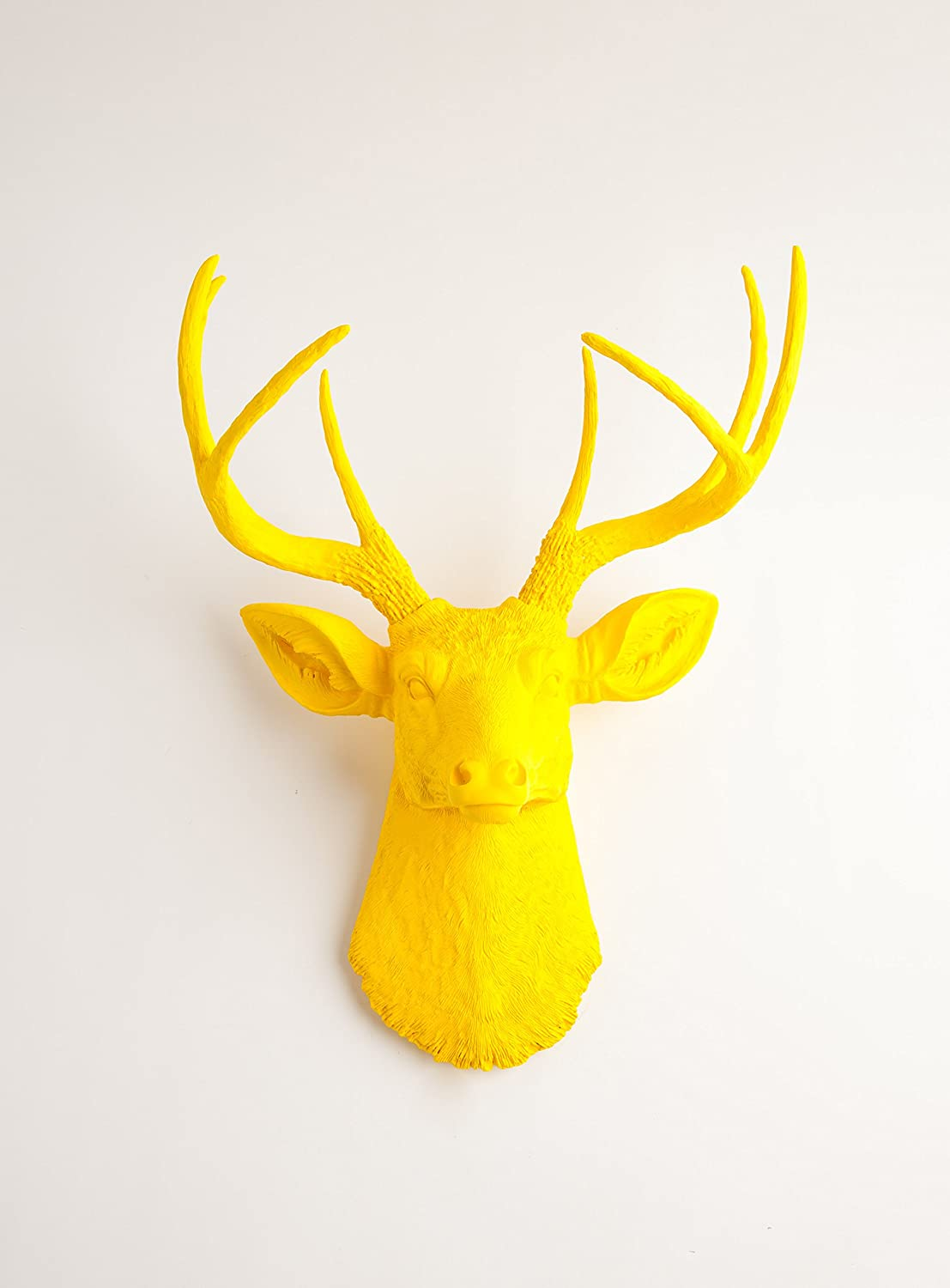 Amazon.com: Yellow Faux Deer Head Wall Mount - The Pablo By White ...