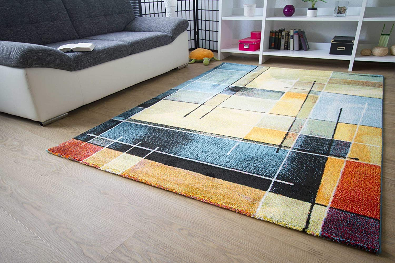 Designer Teppich Teppich Teppich Modern - Modena - Karo Grau Türkis Öko-Tex Karo Muster, Größe 240x340 cm ddfea3