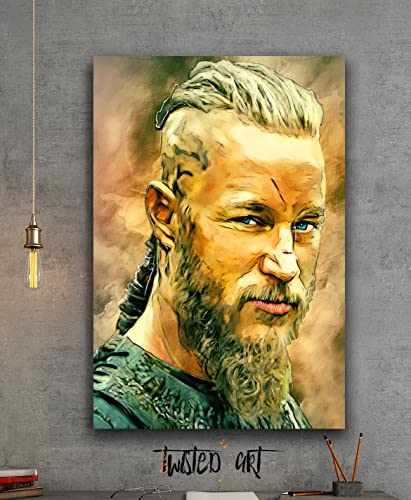 Amazon Com Ragnar Vikings Modern Abstract Box Framed Canvas