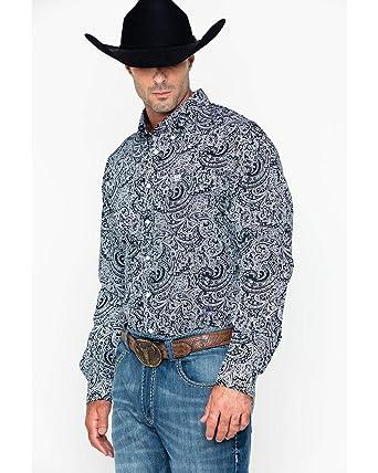 a2927312 Cinch Men's Paisley Print Long Sleeve Western Shirt - Mtw1104722 at Amazon  Men's Clothing store: