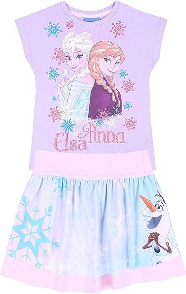 Camiseta + Falda Violeta Elsa Frozen 5 años: Amazon.es: Ropa y ...