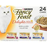 Purina Fancy Feast Delights with Cheddar Grilled Gourmet Wet Cat Food - (24) 3 oz. Cans
