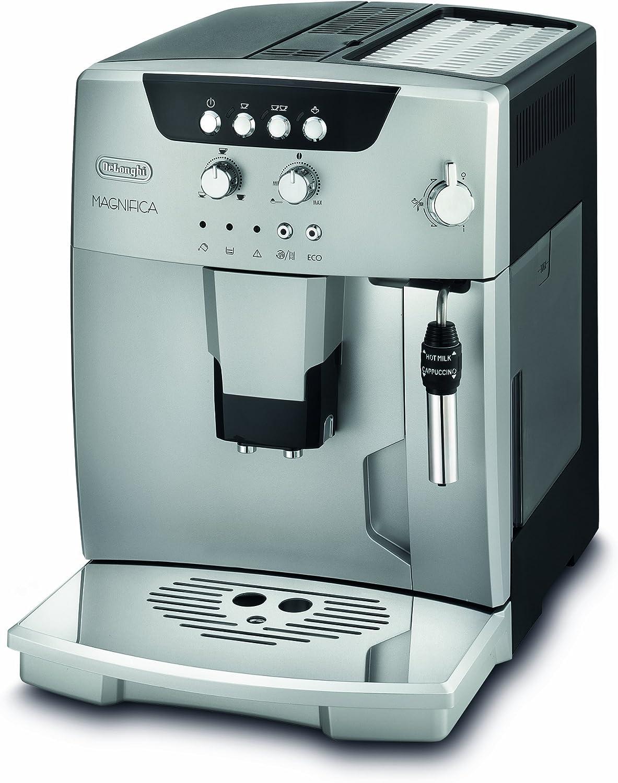 DeLonghi ESAM 04.120.S - Cafetera automática, 1450 W, 1.8 L, 42 dB, acero inoxidable, negro/plata: Amazon.es: Hogar
