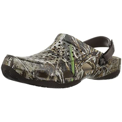 Crocs Men's Swiftwater Deck Realtree Max-5 Mule, Espresso, 8 M US | Shoes