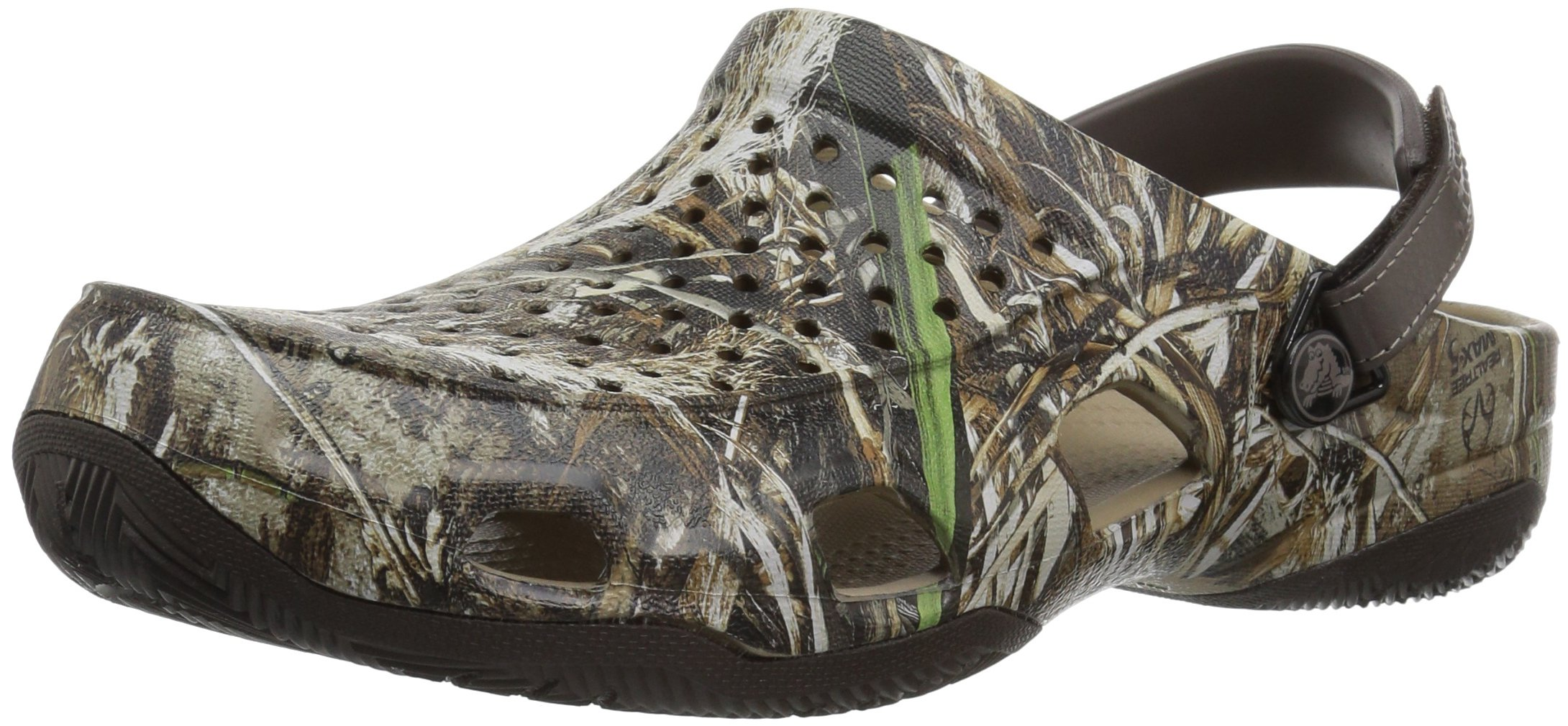 Crocs Men's Swiftwater Deck Realtree Max-5 Mule, Espresso, 10 M US