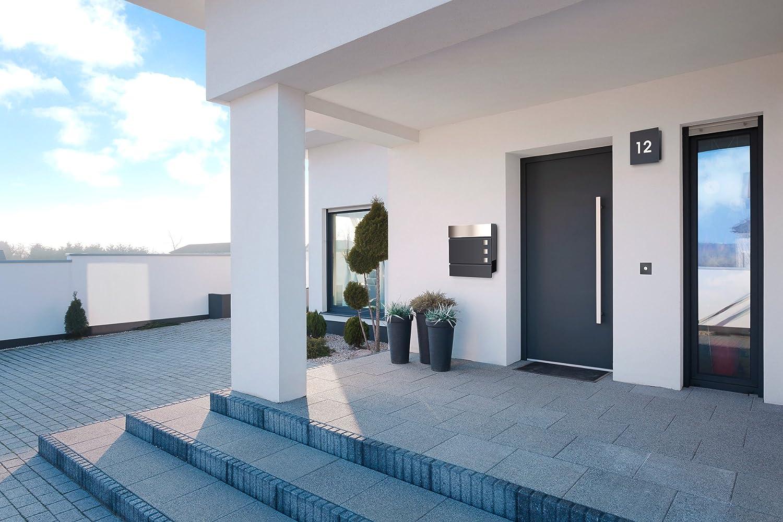 moderner briefkasten radius design briefkasten letterman schwarz ral mit und verdecktem schloss. Black Bedroom Furniture Sets. Home Design Ideas