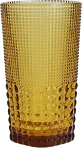 Fortessa Malcolm Iced Beverage Cocktail Glass, 15-Ounce, Amber