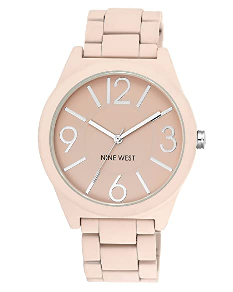 7feddb2f8288 Nine West Women s NW 1679PKPK reloj para mujer con brazalete de goma color  rosa mate
