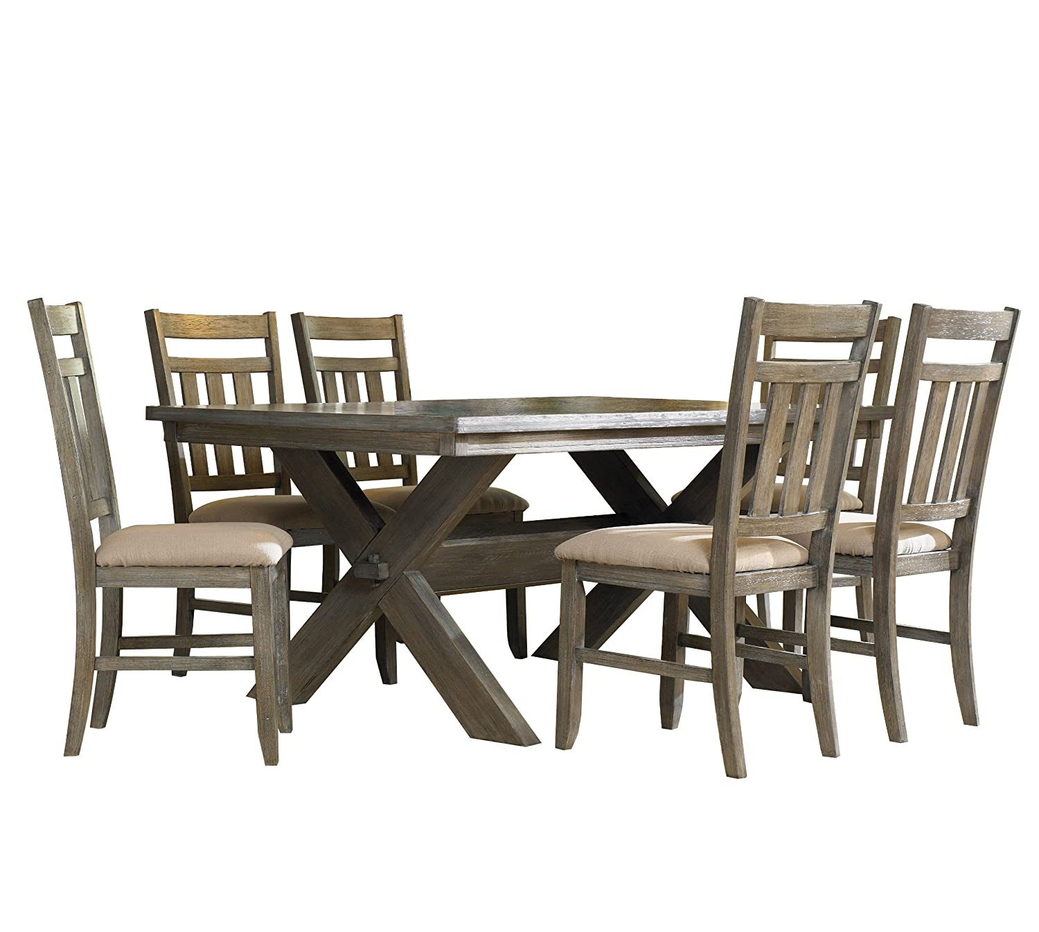 Powell Turino Dining Set, Grey Oak Finish