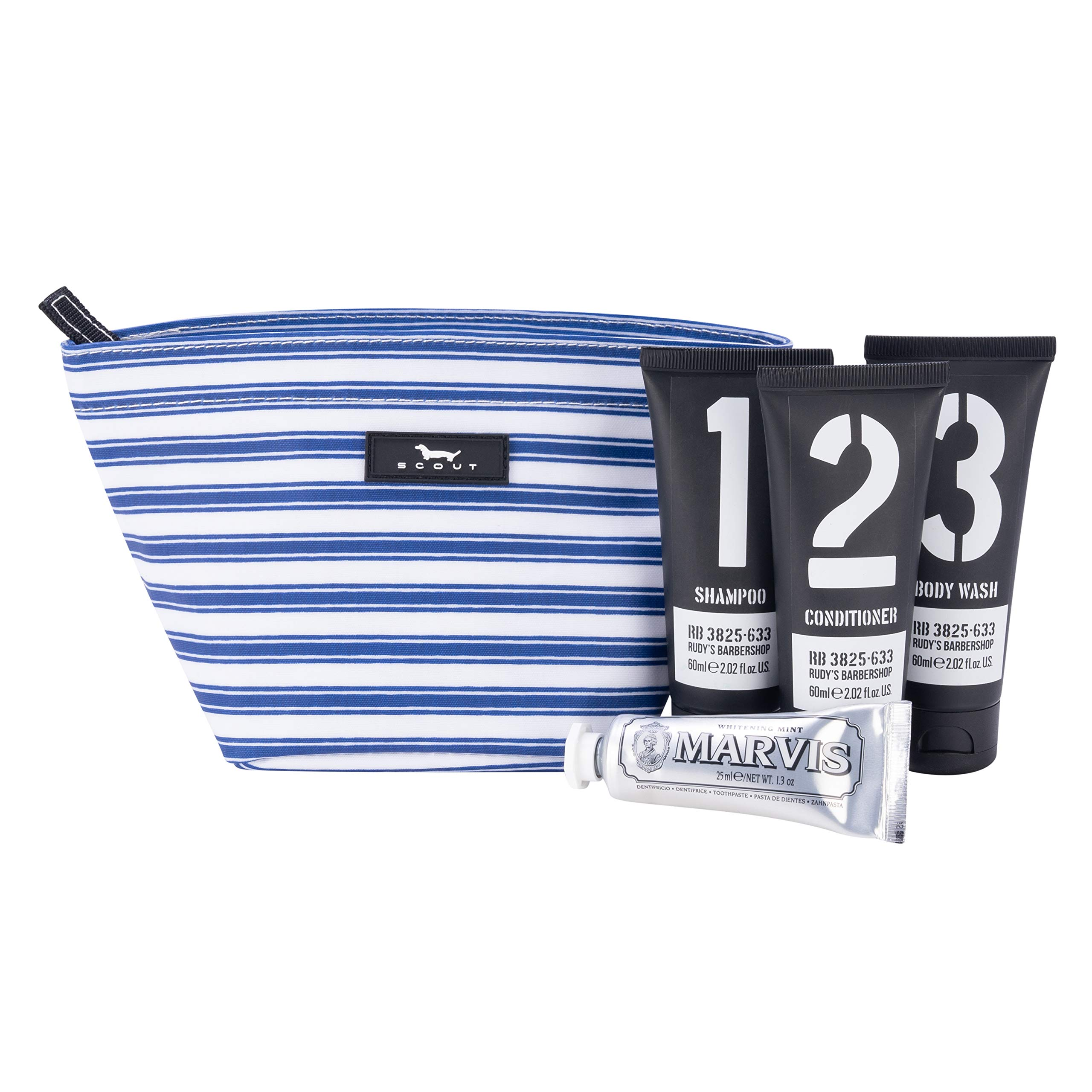 SCOUT Crown Jewels Cosmetic, Makeup & Small Accessory Bag, Water Resistant, Zips Closed, Stripe Right by SCOUT (Image #4)