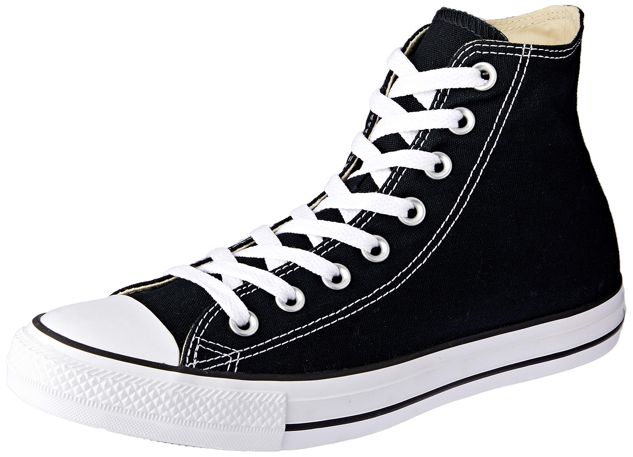 Chuck Taylor All Star Canvas High Top, Black, 9 by Converse