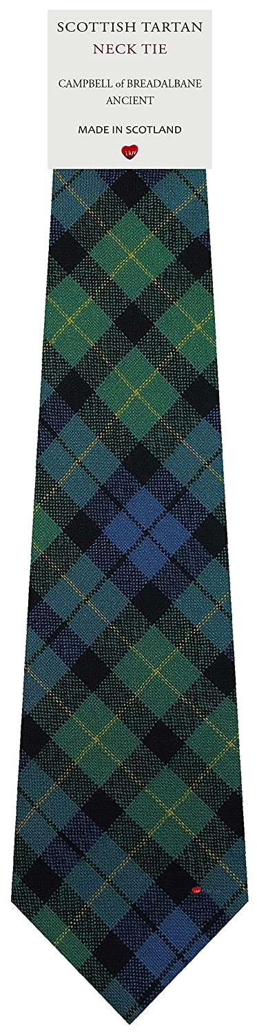 Mens Tie All Wool Made in Scotland Campbell of Breadalbane Ancient Tartan