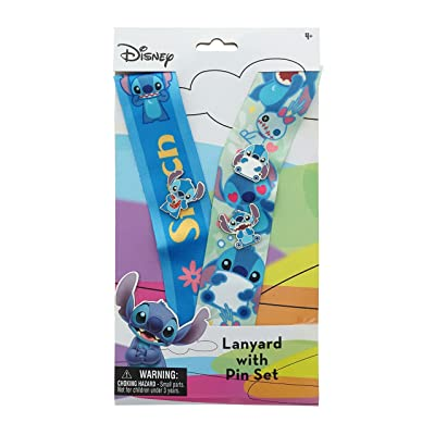 D23 Expo 2020 Exclusive Stitch Deluxe Lanyard & Enamel Pins Set: Toys & Games