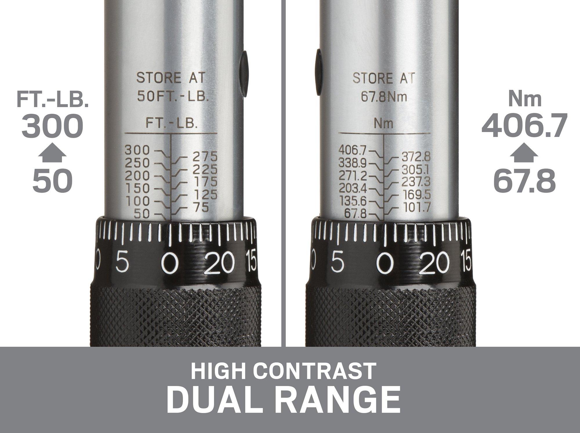 TEKTON 24350 3/4-Inch Drive Click Torque Wrench (50-300 ft.-lb./67.8-406.7 Nm) by TEKTON (Image #5)