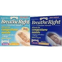 180 BREATHE RIGHT CEROTTI NASALI (3 conf da 30 pz UOMO + 3 conf da 30 pz DONNA)
