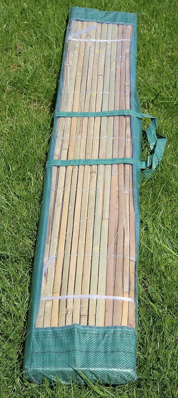 Amazon 2m x 1 5m Bambusmatte Bambus Sichtschutzmatte Zaun