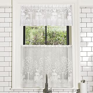 "product image for Heritage Lace White Farmhouse 60""x24"" Tier"
