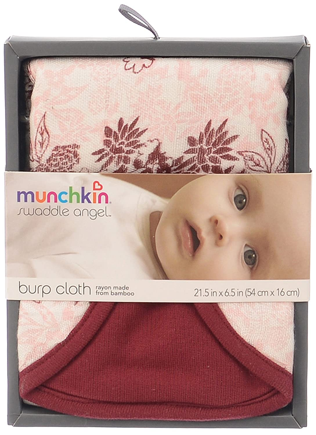 Morning Floral Munchkin Swaddle Angel Lap and Burp Cloth Discontinued by Manufacturer