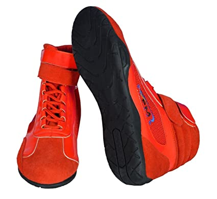 suede mix Kids//junior Karting //Race//Rally//Track Boots with artificial leather