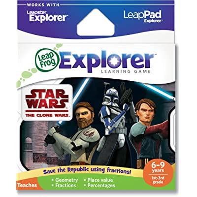LeapFrog Explorer Learning Game: Star Wars: The Clone Wars (works with LeapPad & Leapster Explorer): Toys & Games