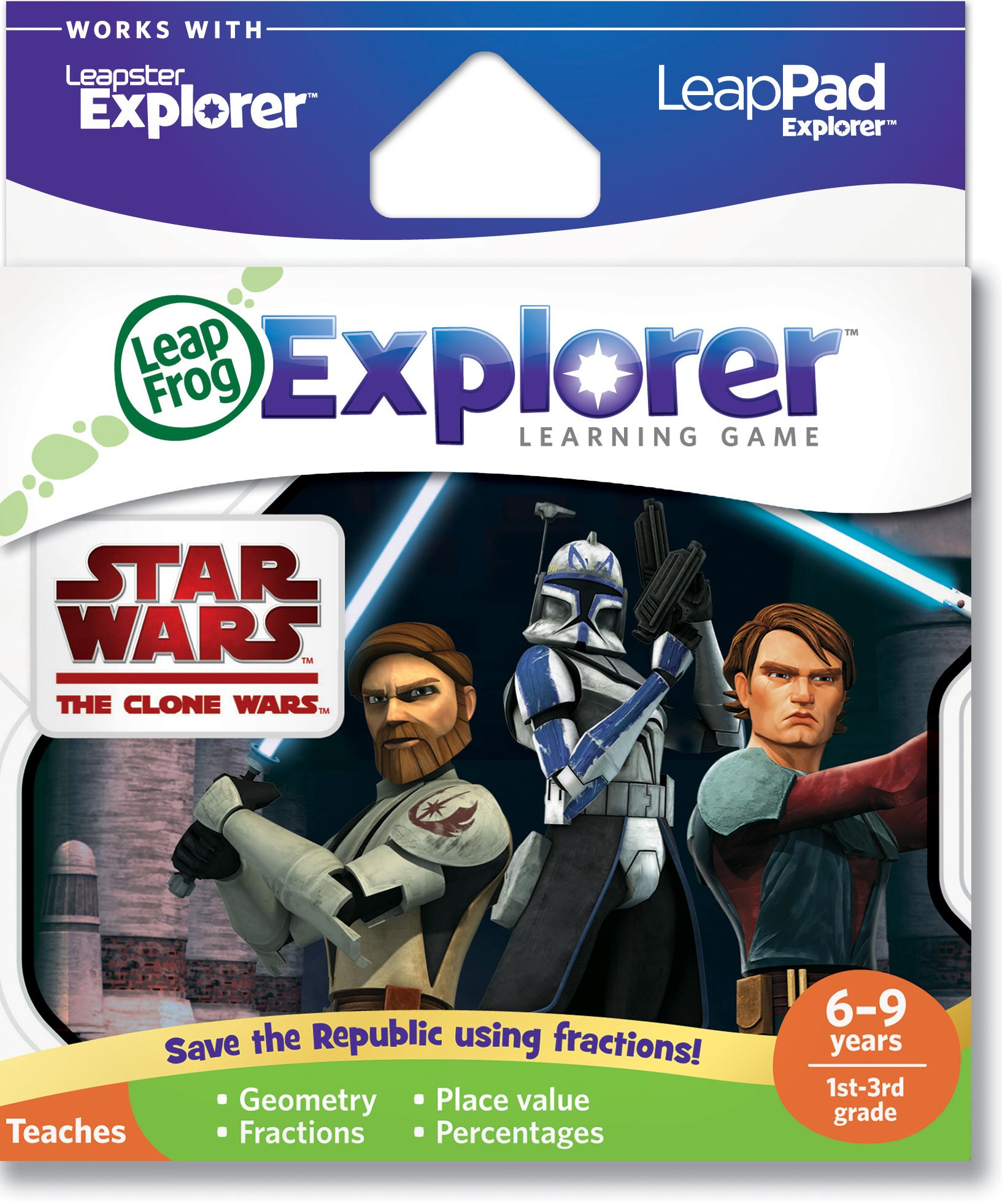 LeapFrog Explorer Learning Game: Star Wars: The Clone Wars (works with LeapPad & Leapster Explorer) by LeapFrog (Image #1)