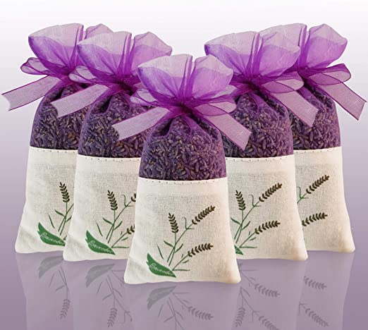 regalo 5 x bolsitas de lavanda bolsitas de fragancia con flores secas de lavanda