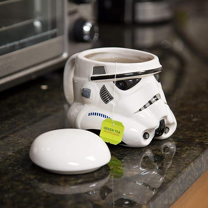 Star Wars Stormtrooper Taza, Cerámica, Blanco, Centimeters: Amazon ...