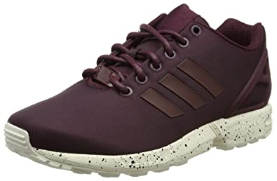 Adidas ZX Flux, Baskets Basses Mixte Adulte, Rouge Maroon/Chalk White, 40