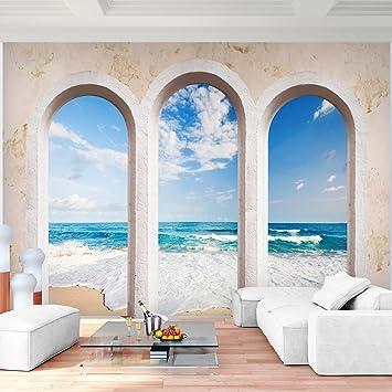 Fototapete Meerblick Fenster Vlies Wand Tapete Wohnzimmer ...