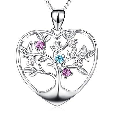 Amazon.com: Joya de regalo de corazón de plata fina ...
