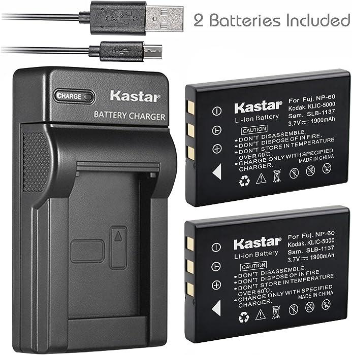 Kastar Battery (X2) & Slim USB Charger for Hewlett Packard A1812A, L1812A and HP PhotoSmart R07, R507, R607, R707, R717, R725, R727, R817, R818, R827, R837, R847, R926, R927, R937, R967