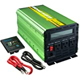 Edecoa Power Inverter 2000 Watt DC 12V to 110V AC with LCD Display and Remote Controller