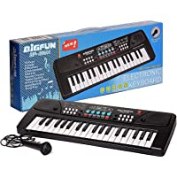 Cosset Pack 37 Key Piano Keyboard Toy for Kids with Mic Dc Power Option Recording Charger not Included Best Birthday Gift for Boys and Girls 2019 Latest Model