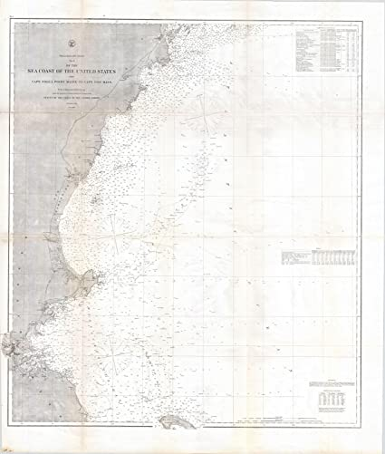 Amazoncom Historic Pictoric Historic 1865 Us Coast Survey Map Of - Map-of-us-in-1865