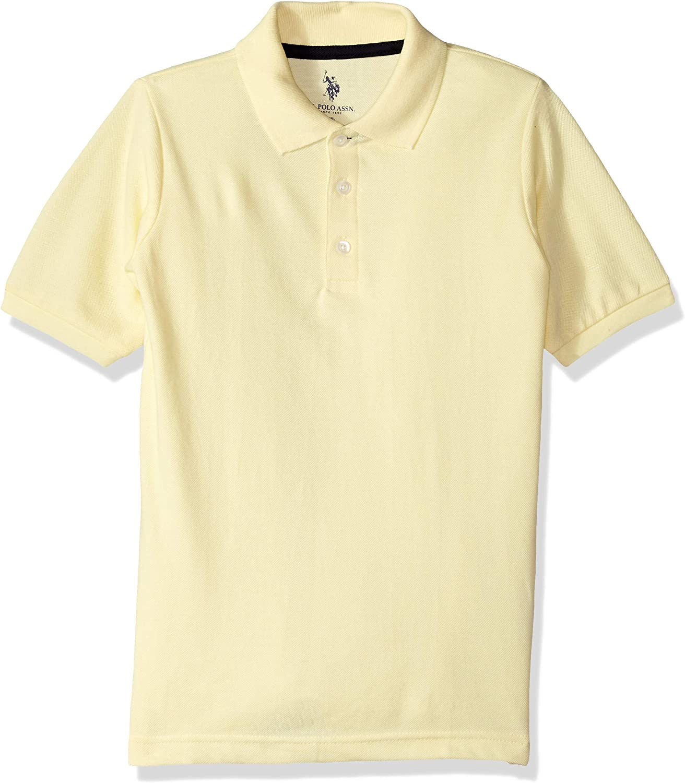Boys New Short Sleeve Pique Polo Shirt POLO ASSN U.S