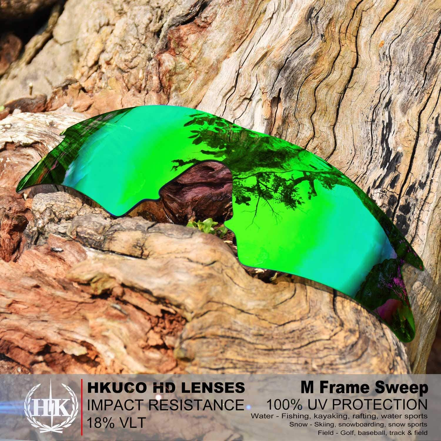HKUCO Mens Replacement Lenses for Oakley M Frame Sweep Sunglasses Green/Bronze
