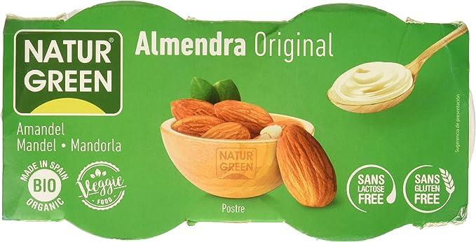 NaturGreen Postre tipo natillas Almond Bio (2x125g) - 6 Packs ...