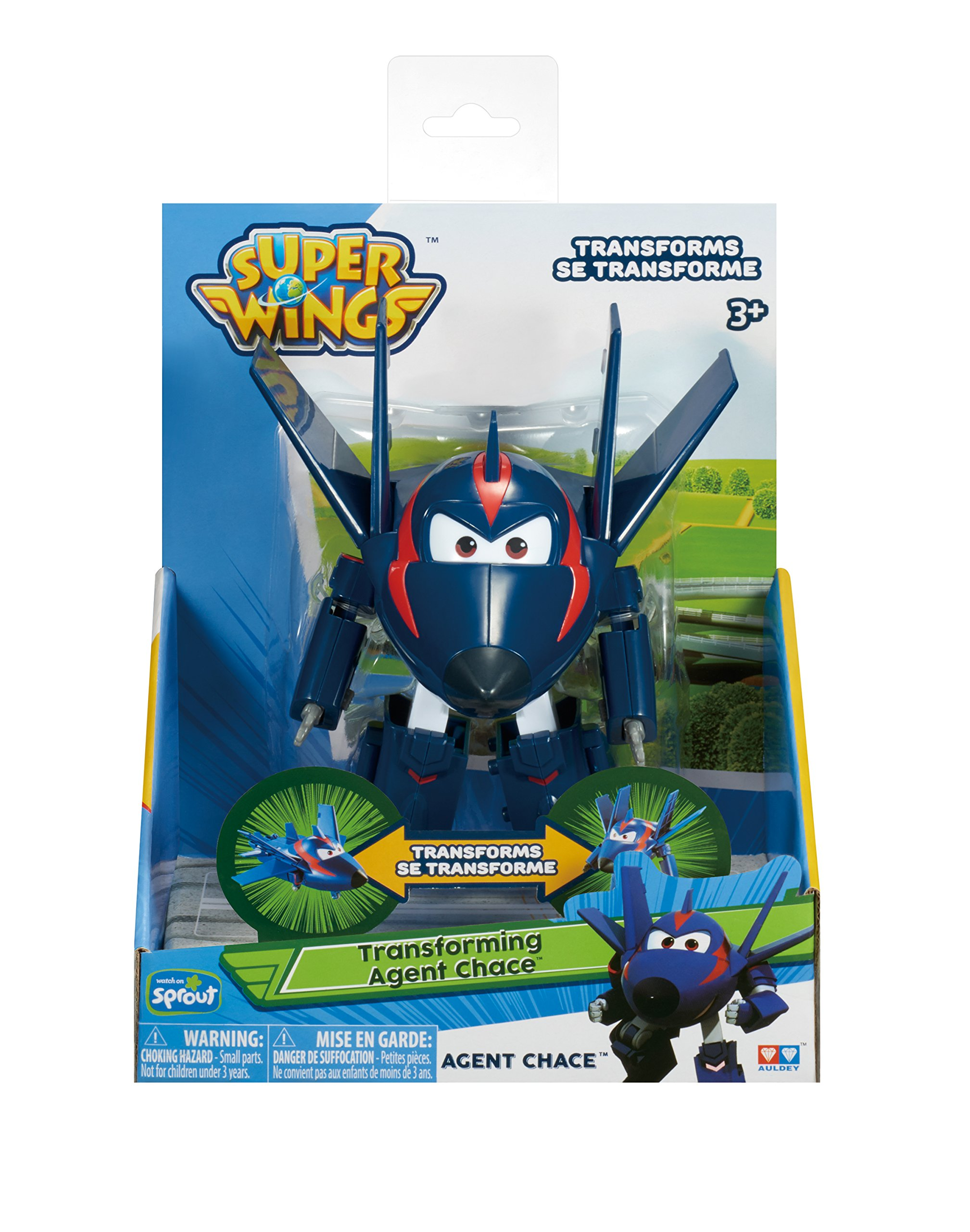 "Super Wings - Transforming Agent Chase Toy Figure | Plane | Bot | 5"" Scale by Super Wings (Image #6)"