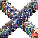 100 Assorted Poke Cards TCG Style Card Holo EX Full Art : 20 GX + 20 Mega + 1 Energy + 59 EX Arts Includes Perfect Box!