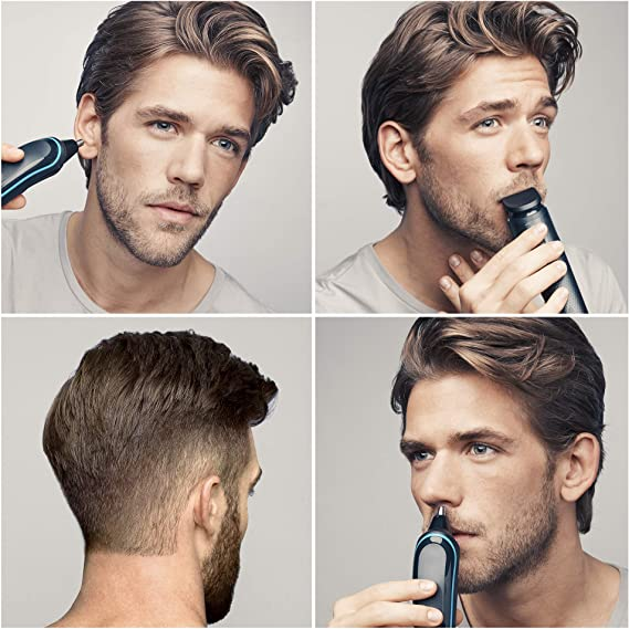 Braun 9 en 1 MGK3085 - Corta Barbas Hombre Todo en 1, Recortadora Barba, Depiladora Masculina, Máquina Cortar Pelo, Cortapelos Nariz y Orejas: Amazon.es: Salud y ...