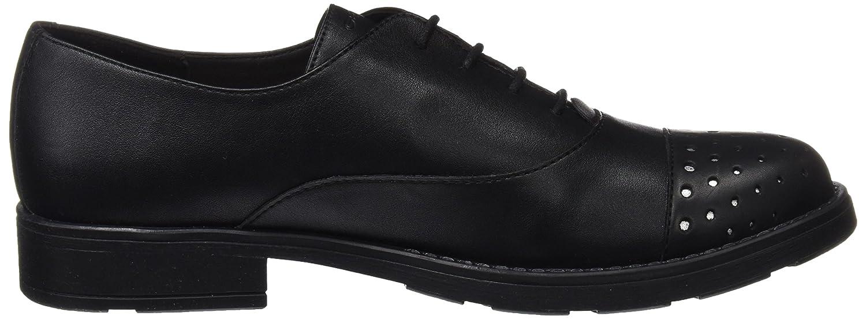 Geox Jr Sofia I, Zapatos de Cordones Oxford para Niñas, Negro (Black), 37 EU