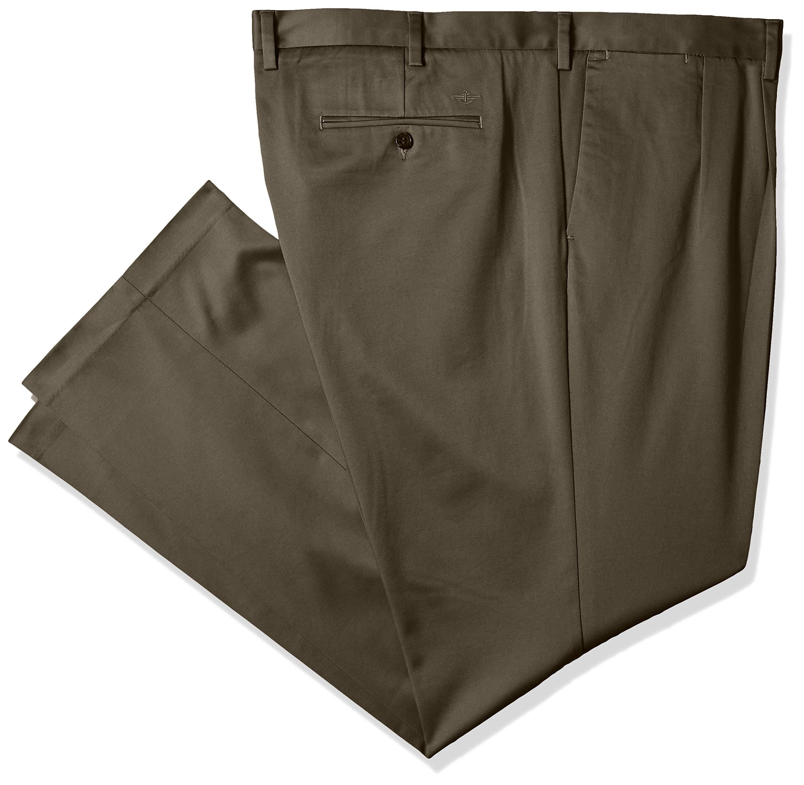 Dockers Men's Big and Tall Big & Tall Superior Trouser D3-Pleated, Dark Pebble, 50W x 30L