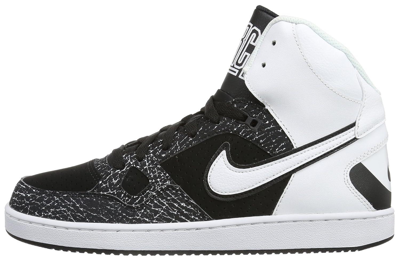 eacbc0ce368 Nike Mens Son of force Mid Hi-Top Sneakers Black Schwarz (Black White-Black)  Size  42  Amazon.co.uk  Shoes   Bags