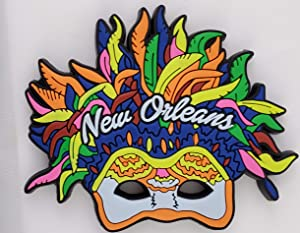New Orleans Colorful Feather Mask Souvenir Refrigerator Magnet