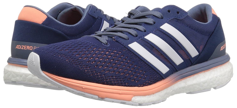 adidas Women's Adizero Boston 6 W Running Shoe B071LGJ2YK 9 B(M) US|Noble Indigo/White/Raw Steel